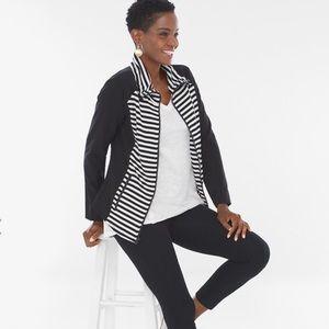 Chico's Zenergy Striped Jacket/Size 4-XXL